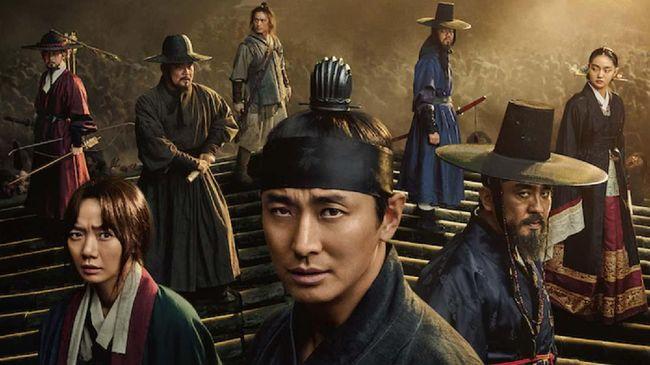 Kebakaran terjadi di lokasi syuting Kingdom: Ashin of the North yang terletak di sebuah kastil di Gaeun Open Set, Provinsi Gyeongsang Utara, pada Kamis (7/1).