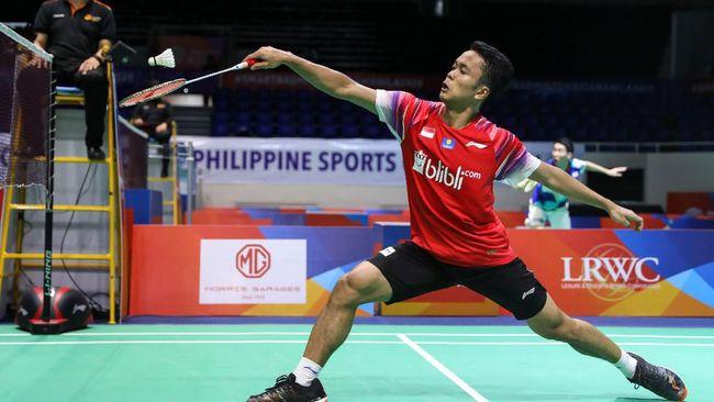 Anthony Ginting gagal ke perempat final Toyota Thailand Open usai kalah dari Lee Cheuk Yiu 19-21, 21-13, 12-21, Kamis (21/1).