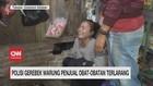 VIDEO: Polisi Gerebek Warung Penjual Obat-Obatan Terlarang