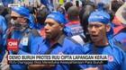 VIDEO: Demo Buruh Protes RUU Cipta Lapangan Kerja