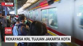 VIDEO: Rekayasa  KRL Tujuan Jakarta Kota