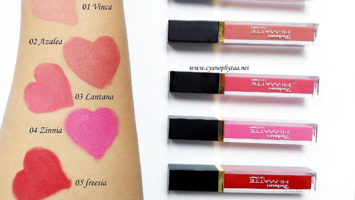 Ini Dia Warna Lip Cream Purbasari Yang Menjadi Favorit Para Cewek Indonesia!