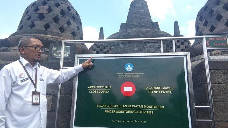 Hasil gambar untuk Waduh, Candi Borobudur Ditempeli Ribuan Permen Karet!