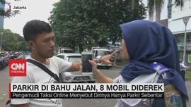 VIDEO: Parkir di Bahu Jalan, 8 Mobil Diderek