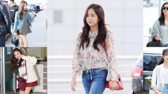 Inspirasi 5 Gaya Fashion Airport Ala Artis Korea Saat Traveling, Kece Badai!