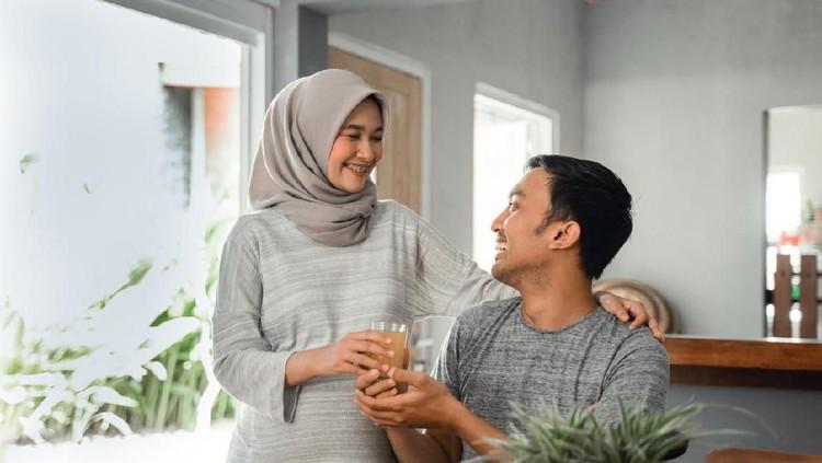 Ilustrasi rumah tangga atau pasangan muslim