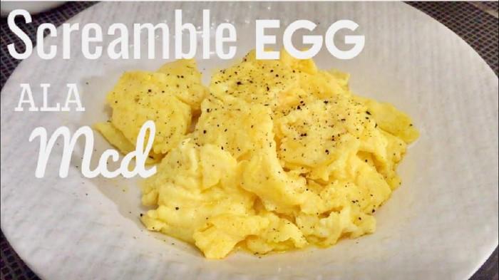 Tips Mudah Bikin Telur Orak-Arik ala Mcd, Bisa Bikin Sendiri di Rumah!