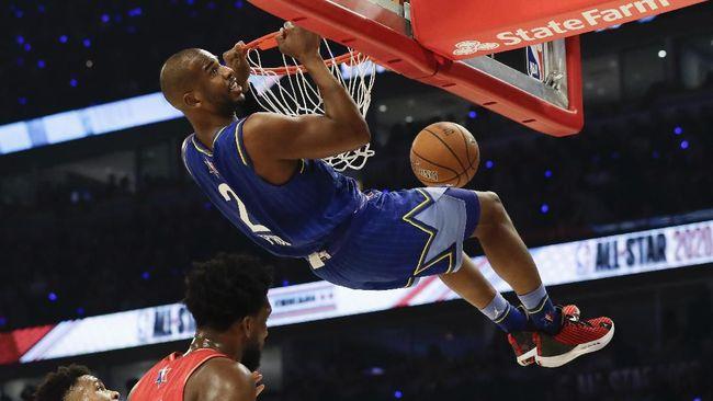 Tim LeBron berhasil mengalahkan tim Giannis yang berjalan sengit dengan skor tipis 157-155 pada ajang NBA All Star di United Center, Chicago.