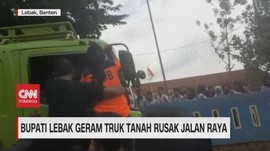 VIDEO: Bupati Lebak Geram Truk Tanah Rusak Jalan Raya