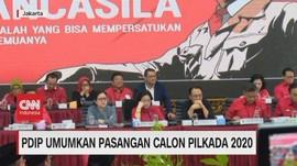 VIDEO: PDIP Umumkan Pasangan Calon Pilkada 2020