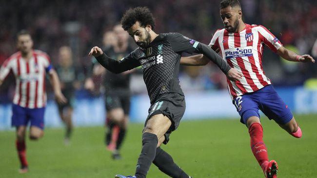 Penyerang Liverpool, Mohamed Salah dan Sadio Mane berhasil dimatikan pemain Atletico Madrid pada leg pertama 16 besar Liga Champions.