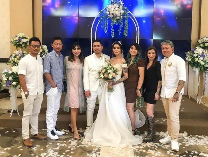 <p>Sheila Marcia baru saja melangsungkan pernikahan dengan Dimas Akira pada 20 Februari 2020. (Foto: Instagram @mariaalfi_) </p>