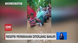 VIDEO: Resepsi Pernikahan Diterjang Banjir