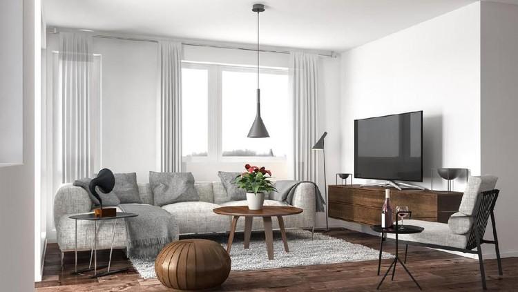 Modern living room. Render image.