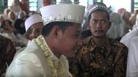Evan Dimas dan Zahra melangsungkan akad nikah di Masjid Agung Al-Akbar, Surabaya. (Foto: YouTube Mahar Agung Organizer)