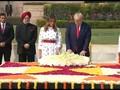 VIDEO: Donald Trump Berziarah ke Makam Mahatma Ghandi