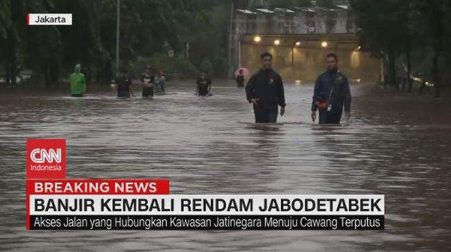 VIDEO: Kawasan Underpass Cawang Terendam Banjir