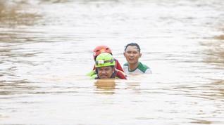 Banjir Rendam 8 Desa di Ciamis, 116 Keluarga Mengungsi