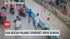 VIDEO: 2 Bocah Hilang Terseret Arus Sungai