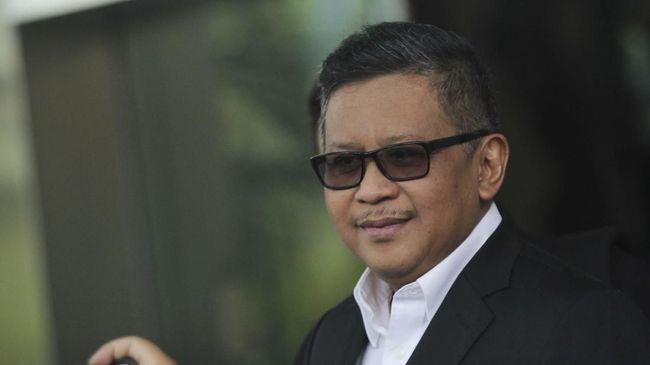 Sekjen PDIP Hasto Kristiyanto menjalani pemeriksaan di gedung KPK, Jakarta, Rabu (26/2/2020). Hasto Kristiyanto diperiksa sebagai saksi tersangka mantan Komisioner KPU Wahyu Setiawan, terkait kasus suap Pergantian Antar Waktu (PAW) anggota DPR Fraksi PDIP. ANTARA FOTO/Reno Esnir/ama.