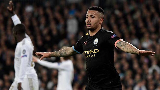 Manchester City bangkit dari ketinggalan untuk menang atas Real Madrid di leg pertama babak 16 besar Liga Champions, Kamis (27/2) dini hari WIB.