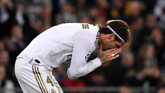 Sergio Ramos meraih kartu merah ke-26. Kapten Real Madrid tersebut kini tinggal berjarak satu kartu merah dari Cyril Rool.