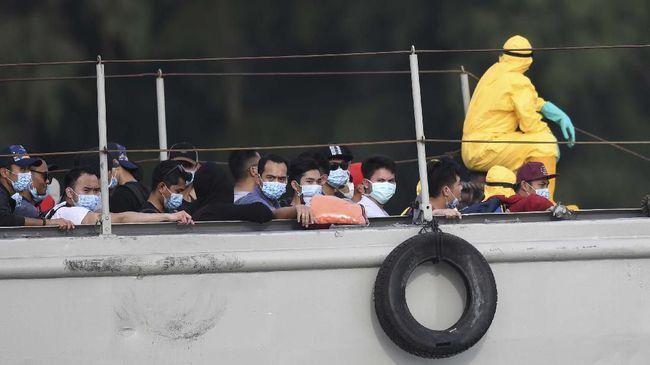 Ada skenario 68 WNI di Diamond Princess mendarat di Bandara Halim, selanjutnya dibawa dengan bus ke Kolinlamil Tanjung Priok sebelum berlayar ke Pulau Sebaru.