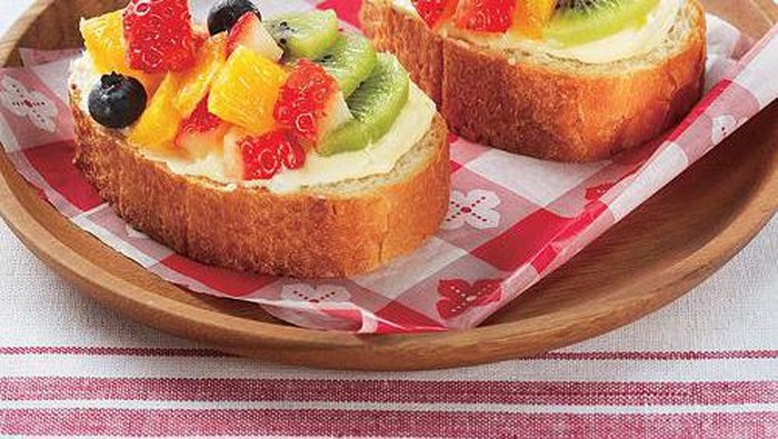 Fruits Open Sandwich, Sandwich Cantik Penggugah Selera