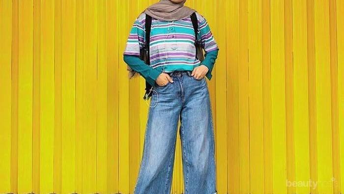 Masih Malu untuk Pakai Outfit Warna-Warni? Kamu Bisa Tiru OOTD Hijab Casual Tasya Kissty