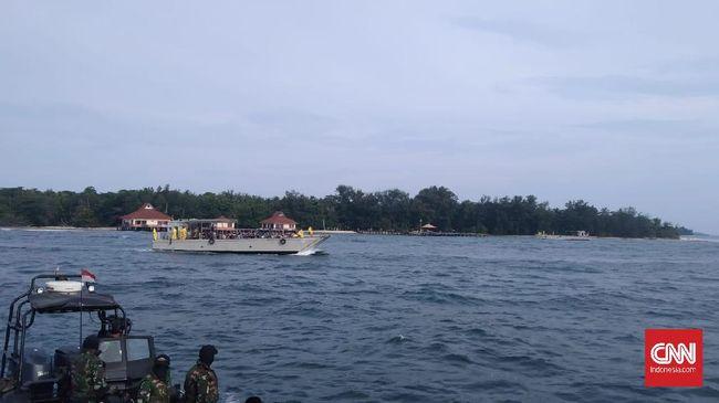 188 WNI ABK Diamond Princess sudah tiba di Pulau Sebaru Kecil, Jumat (28/2) sore, dan akan langsung menjalani tes kesehatan terlebih dulu.