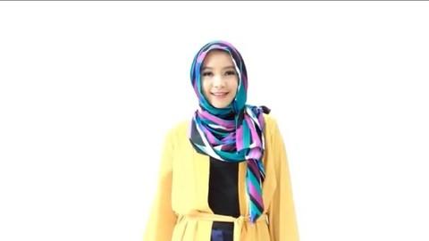 Tutorial Hijab Bermotif Untuk Pergi Ke Kantor