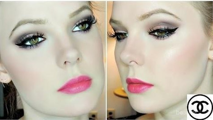 Tutorial Makeup Smokey Spring Look yang Sweet & Sexy Dengan Eyeshadow dari Chanel