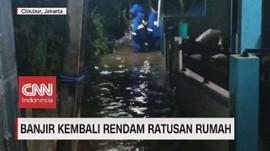 VIDEO: Banjir Kembali Rendam Ratusan Rumah di Jakarta