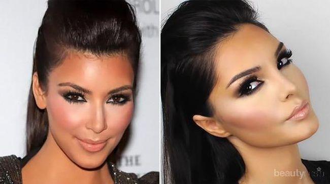 Seksi Dengan Makeup Brown Smokey Eyes ala Kim Kardashian