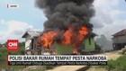 VIDEO: Polisi Bakar Rumah Tempat Pesta Narkoba di Jambi
