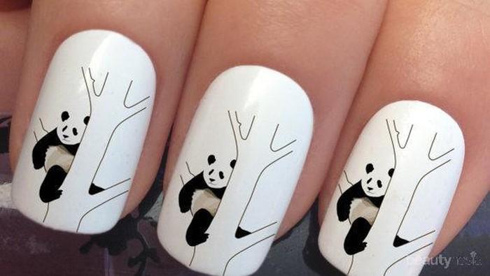 24 Kreasi Nail Art Panda (Part 2)