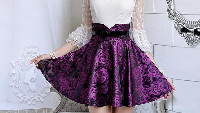 Tips Fashion: Wear High Waisted Skirt
