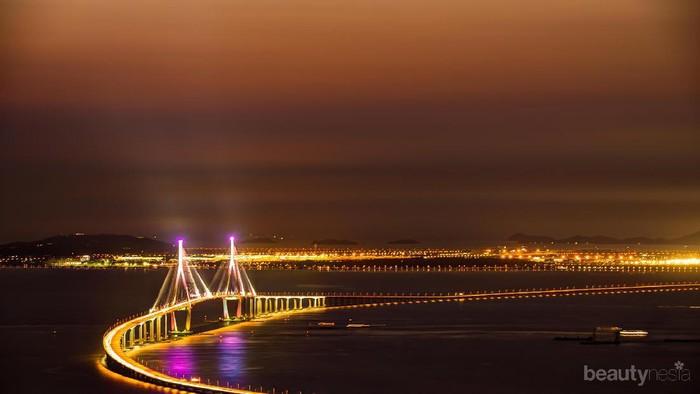 Indahnya Jembatan Incheon di Korea Selatan