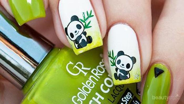 24 Kreasi Nail Art Panda (Part 1)