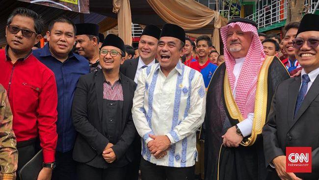 Menteri Agama Fachrul Razi saat ditemui di Pondok Pesantren Daarul Quran, Cipondoh, Tangerang, Kamis (5/3).