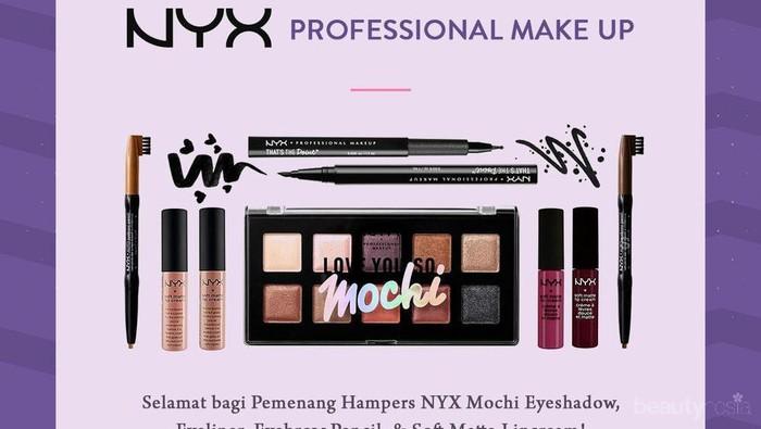 [GIVEAWAY ALERT] 3 Pemenang Giveaway Berhadiah Makeup NYX Professional Gratis, Selamat Ladies!