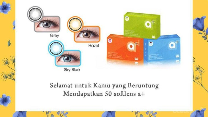 [GIVEAWAY ALERT] 25 Pemenang Giveaway Beautynesia X2 Softlens, Congratulation Ladies!