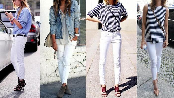 Ladies, Jangan Takut Mengenakan Jeans Putih! Ini Dia Beberapa Inspirasinya!