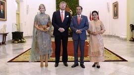 Gaya Iriana Jokowi dan Sedah Mirah Saat Sambut Ratu Belanda