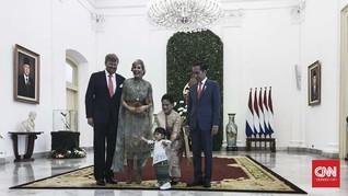 Jokowi Ajak Cucu Sambut Raja dan Ratu Belanda di Istana Bogor