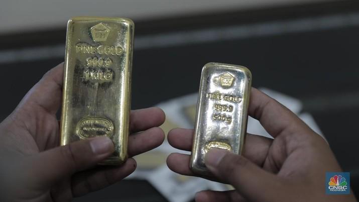 Maaf! Tak Ada Cuan Emas Antam Hari Ini, Stagnan Rp 875.000/gr