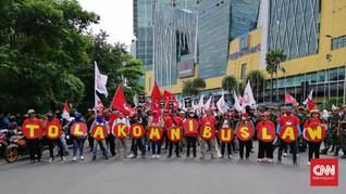 Massa Getol Jatim Kembali Turun ke Jalan Tolak Omnibus Law
