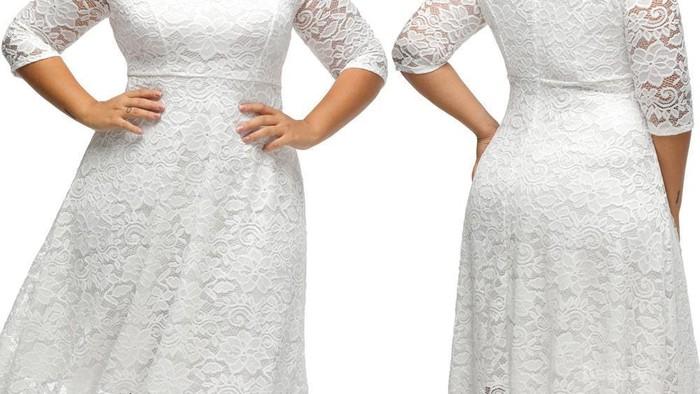 Tampil Lebih Percaya Diri, Ini Pilihan Dress Putih yang Cocok untuk Wanita Gemuk