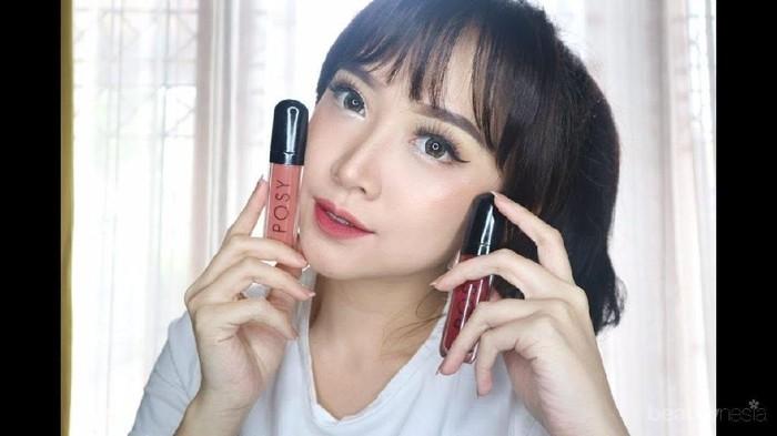 Warnanya cantik! Siapa yang sudah coba lip cream dari Posy Beauty?