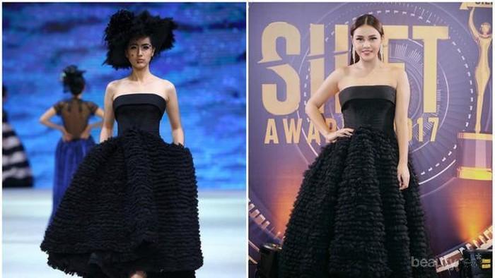 Ladies, Ini Dia Tips Menggunakan Dress Kemben untuk Lengan Besar